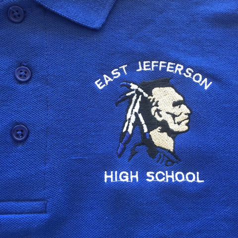 East Jefferson High School Blue Polo