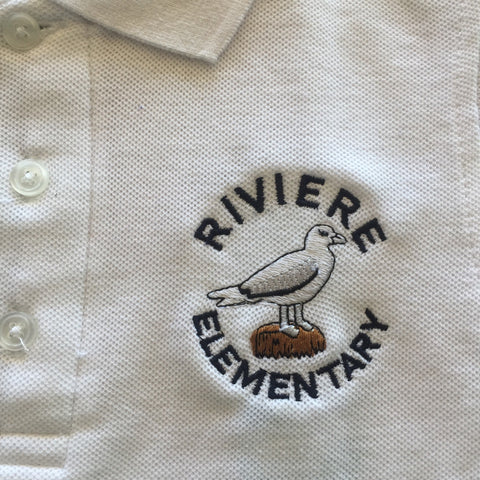 Marie B Riviere Elementary White Polo