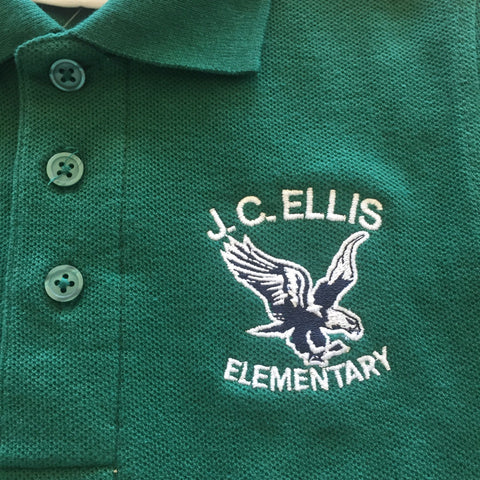 J.C. Ellis Elementary School Green Polo