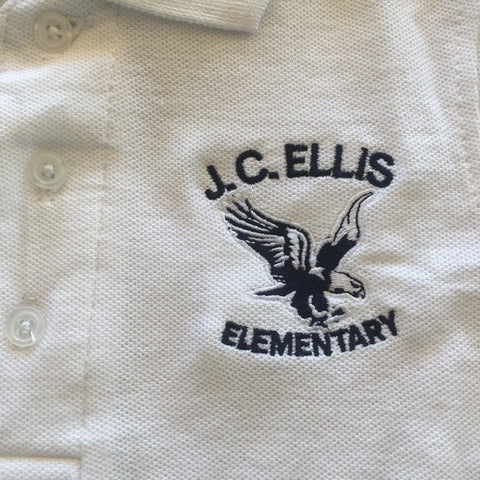 J.C. Ellis Elementary School White Polo
