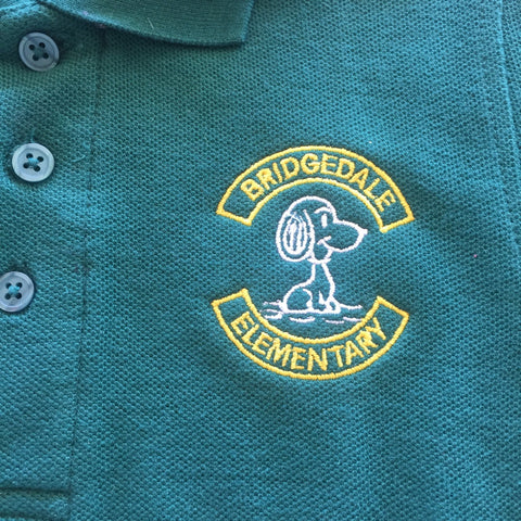 Bridgedale Elementary School Green Polo