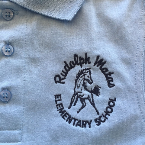 Rudolph Matas Elementary School Light Blue Polo