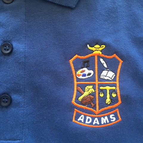 John Q Adams Middle School Navy Polo