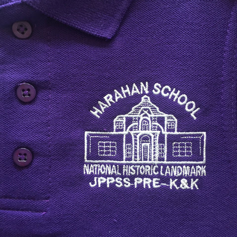 Harahan Elementary School Purple Polo