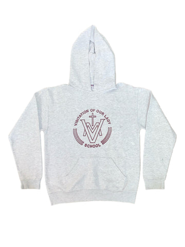 Visitation of Our Lady Grey Hooded Sweatshirt