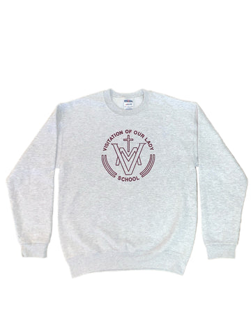 Visitation of Our Lady Grey Crew Sweatshirt
