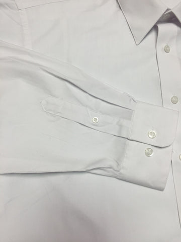 Archbishop Shaw Mens White Dress Shirt