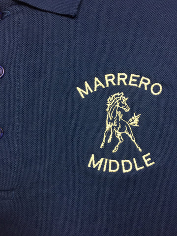 L.H. Marrero Middle Royal Blue Polo