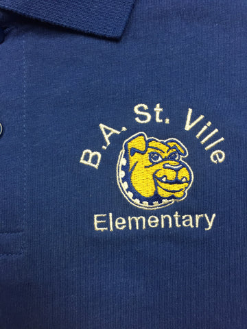 Bonella St. Ville Elementary Royal Blue Polo