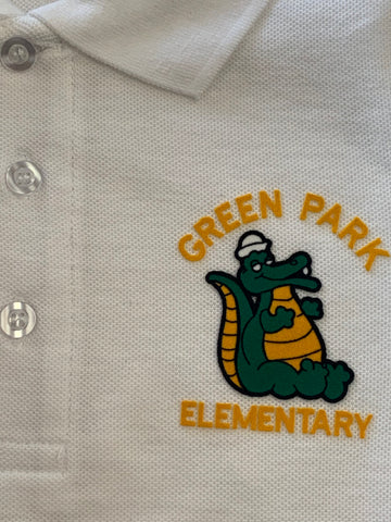 Green Park Elementary White Polo