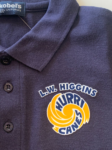 L.W. Higgins Navy Polo