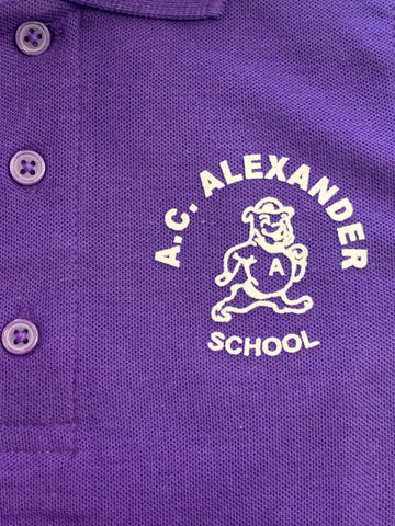 A.C. Alexander Elementary Purple Polo
