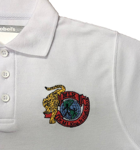 Dr. Martin Luther King Charter High School White Polo