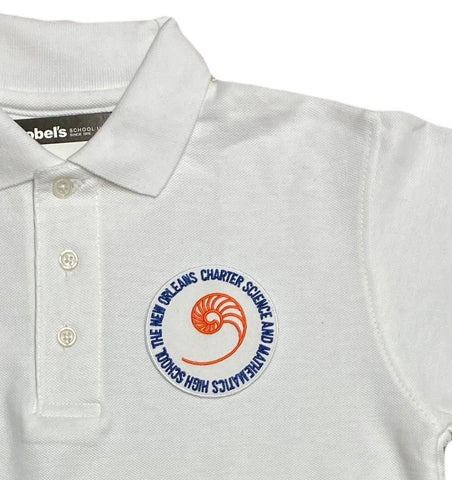New Orleans Charter Science and Mathematics HS White Polo