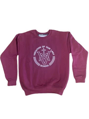 Visitation of Our Lady Maroon Crew Sweatshirt
