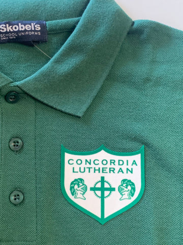 Concordia Lutheran Hunter Green Polo Shirt