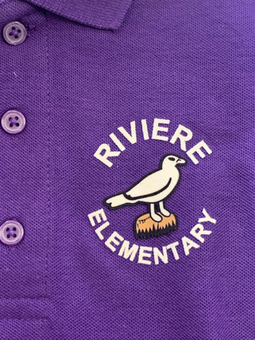 Marie B Riviere Elementary Purple Polo