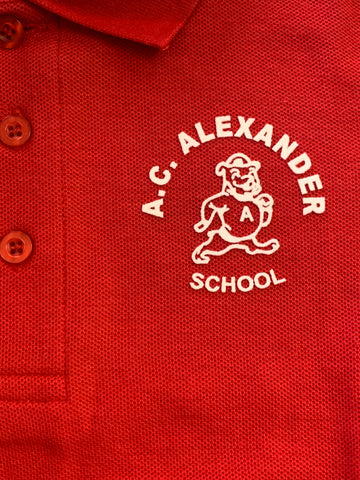 A.C. Alexander Elementary Red Polo