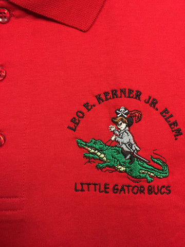 Leo E. Kerner Jr. Elementary Red Polo