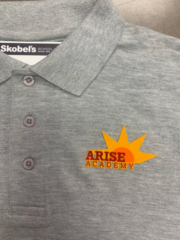 Arise Academy Gray Polo