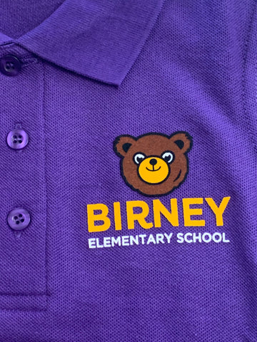 Alice Birney Elementary School Purple Polo