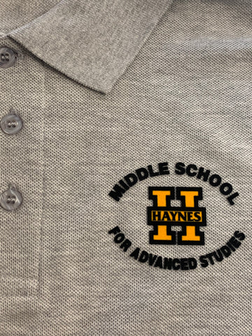 Haynes Academy for Advanced Studies Grey Polo