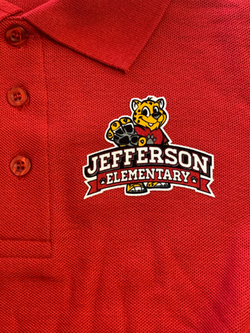 Jefferson Elementary Red Polo