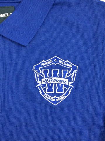 Fannie C. Williams Charter School Royal Blue Polo
