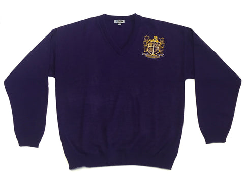 Edna Karr V-Pullover Purple Sweater
