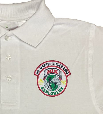 Dr. Martin Luther King Charter Elementary School White Polo