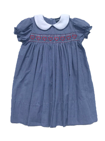 Academy Of The Sacred Heart Blue Smock Dress