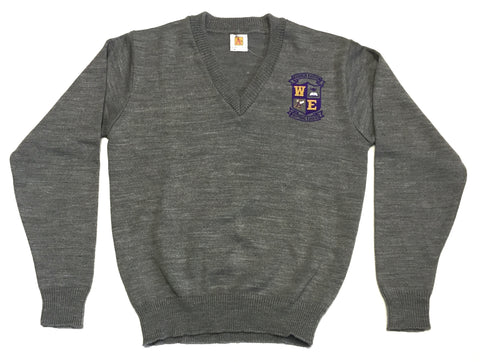 Warren Easton High Grey V-Pullover Sweater