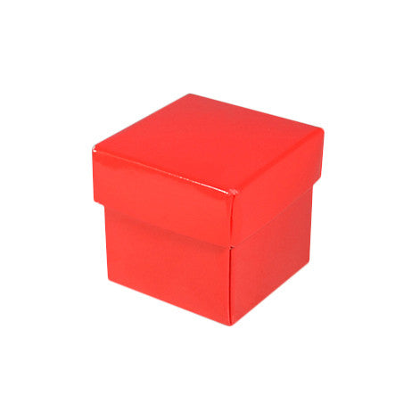 Square Tiny Gift Box - Gloss Red