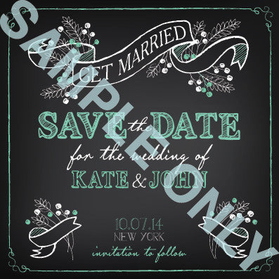Blackboard style save the date