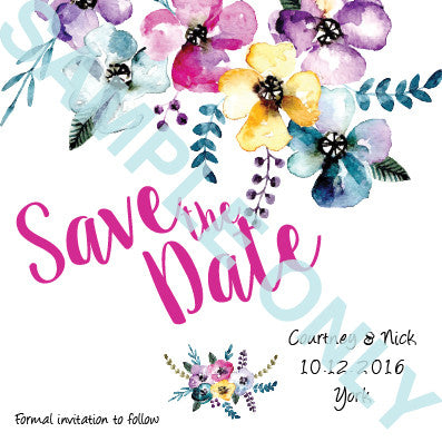 Flower days save the date