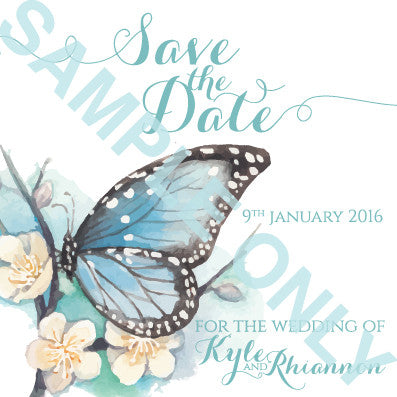 Butterfly Kisses save the date