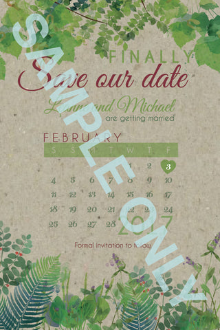 Magical Forrest Save the date