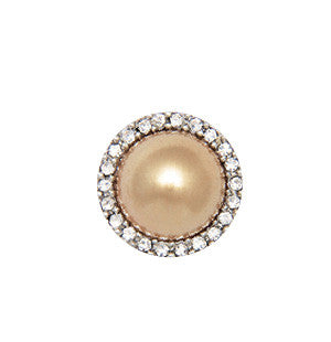 Champagne Pearl Round Silver 5 Pack