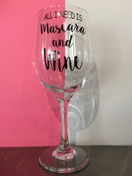 Wine and Mascara Wine Glass