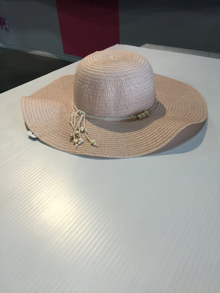 Pale Pink Oversized Floppy Hat