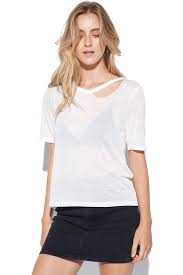 Mink Pink Split Neck Tee