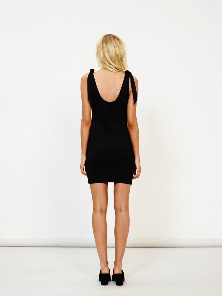 MinkPink Tongue Tied Shoulder Dress