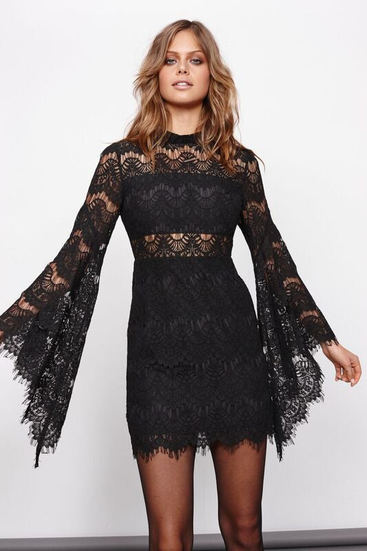 Mink Pink Drama Queen Lace Dress