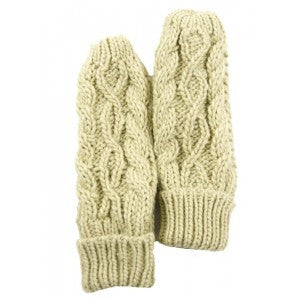 Hand Made Cable Knit Mitts