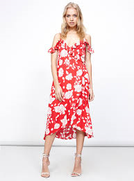 Mink Pink Enchanted Rose Midi Dress