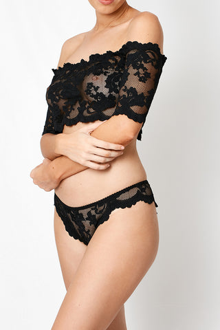 VIXEN SCALLOPED LACE ITALIAN G