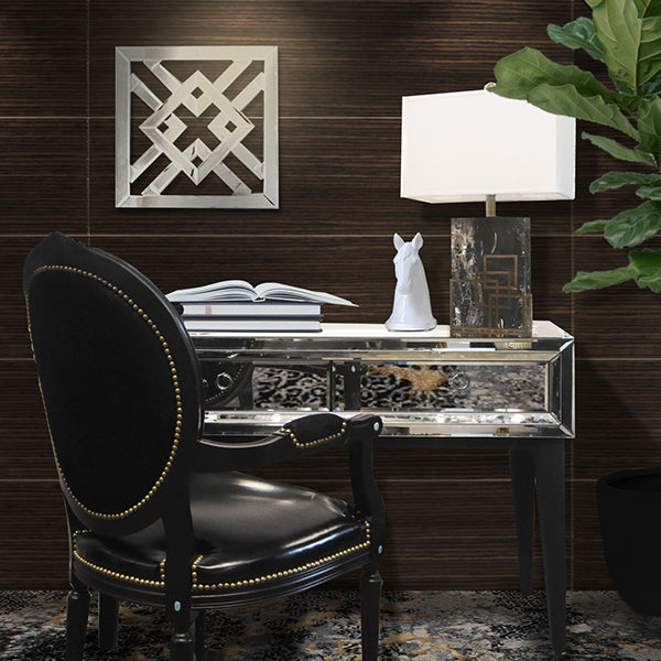 BLACK OPULENCE CONSOLE WRITING TABLE
