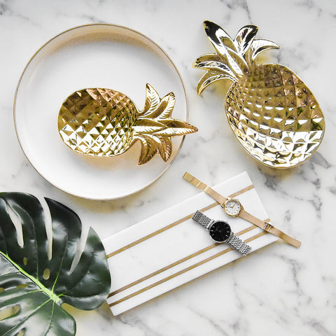 Chanceux Pineapple Gold Tray