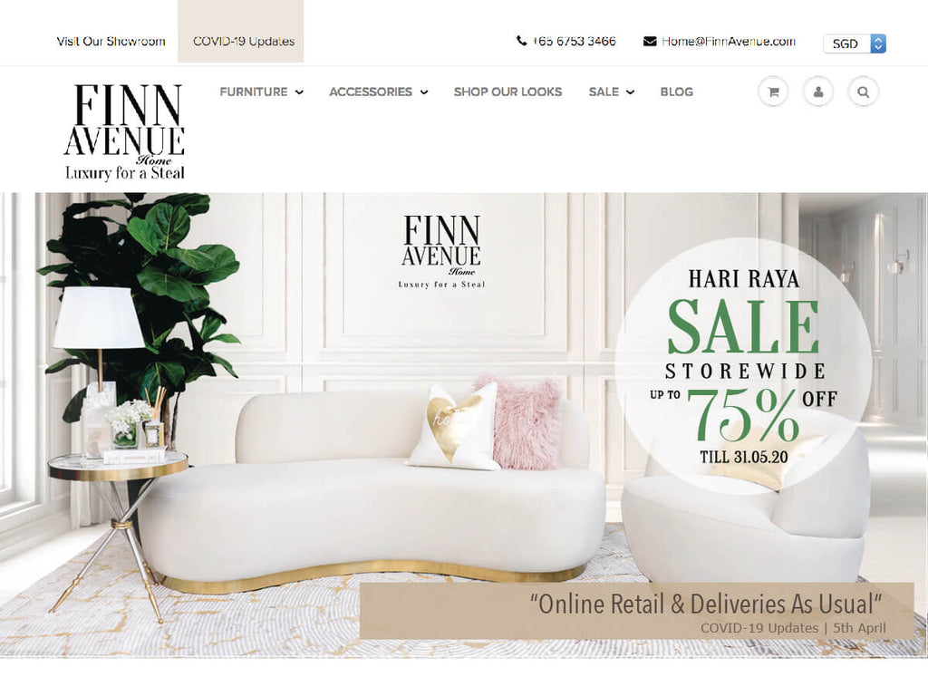 COVID-19 Updates - Online Furniture Business As Usual and Delivery Continues at Finn Avenue Singapore