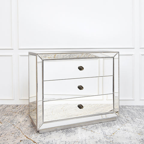 Hermes Harriette Mirrored Chest of Drawers